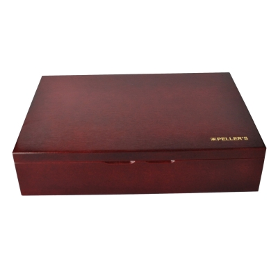 Wooden chest for coin or medal trays size L