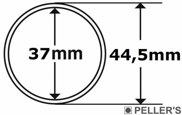 Capsulas para monedas Ø37mm