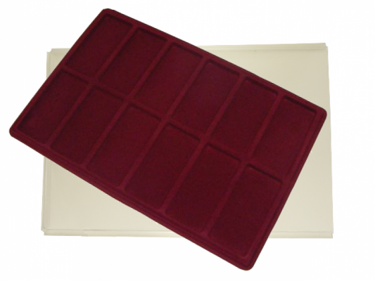 Tray with 12 compartments for medals: 96mm x 46mm