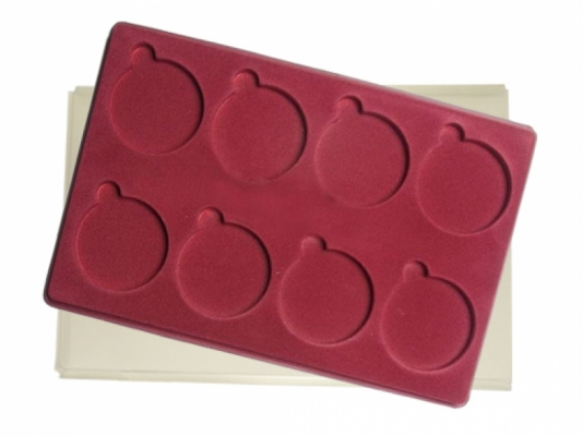 Tray with 8 compartments for medals: Ø70