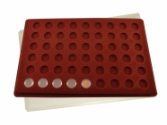 Coin tray with 54 coin capules Ø16.5mm
