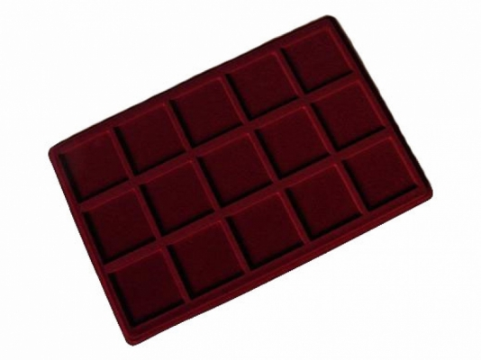 Coin tray with 15 compartments: 57mm x 57mm