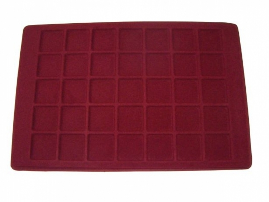 Coin tray with 35 compartments:35mm x 35mm