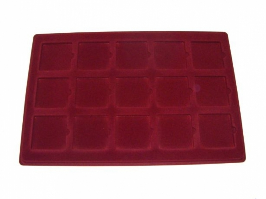 Coin tray with 15 compartments: 50mm x 50mm