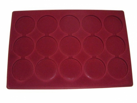 Tray with 15 compartments for medals: Ø55