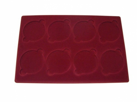 Tray with 8 compartments for medals: Ø67