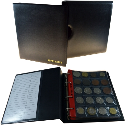 Coin album M with 10 pages for 200 medium size coins up to Ø31mm