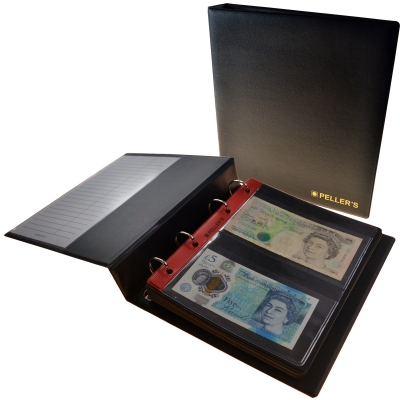 Coin album M with 10 pages for 20 banknotes
