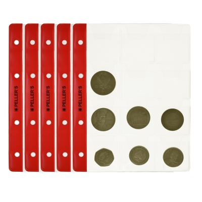 10 Collectors Sheets, 12 Pockets for Big Coins up to 40mm