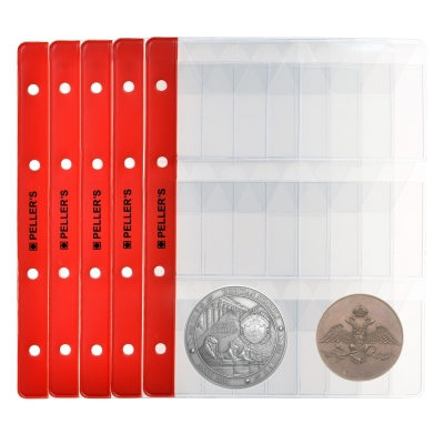 10 Pages for 6 coins (binder type M)