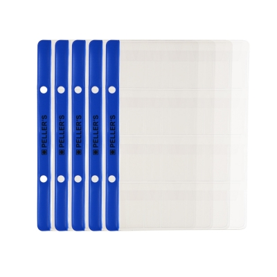 10 Collectors Sheets, 12 Pockets for Medium Coins up to 28mm