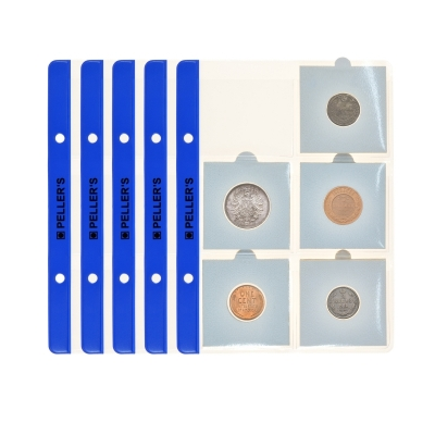 10 Pages for 6 coin holders (binder type S)