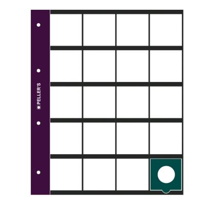 10 Sheets, 20 Pockets for Standard Cardboard Coin Holders