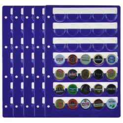 5 Collection Caps Sheets, 350 Compartments for Bottle caps
