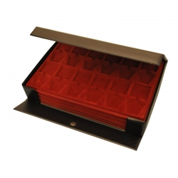 Black chest for coin or medal trays