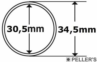 Capsulas para monedas Ø30.5mm