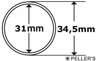 Capsulas para monedas Ø31mm