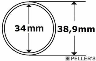 Capsulas para monedas Ø34mm