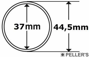 Капсула без бортика Ø37мм