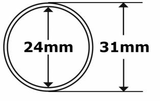 Капсула без бортика Ø24мм