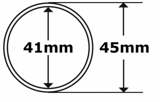 Coin capsules Ø41mm