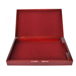 Wooden chest for coin or medal trays size M