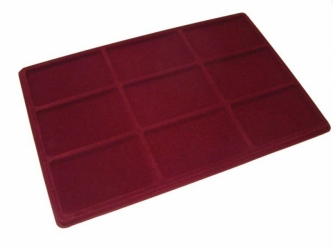 Tray with 9 compartments for medals:100mm x 63mm