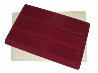 Tray with 6 compartments for medals:140mm x 53mm