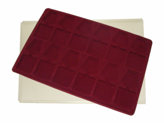 Tray with 12 compartments for medals