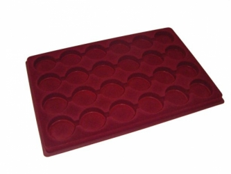Coin tray with 24 deep compartments: Ø45