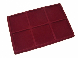 Coin tray with 6 compartments: 95mm x 95mm