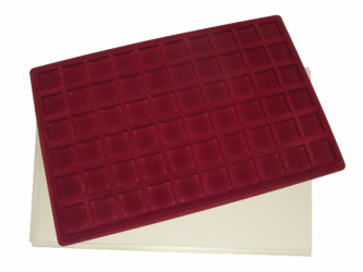 Coin tray with 60 compartments: 26mm x 26mm