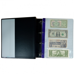 Collection Album, 35 Mix Banknotes & Cheques