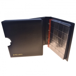 Coin ringbinder with pages for 200 coins