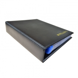 Coin ringbinder with pages for 126 coins