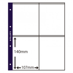 10 Collectors Sleeves, 4 Pockets 107mm X 150mm
