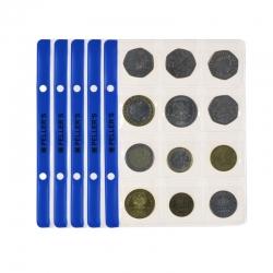 10 Münzenblatt für 12 münzen (album typ S)