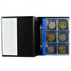 Coin album S with 10 sheets for 60 big coins up to Ø48mm