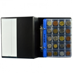 Coin album S with 10 sheets for 132 mix size coins up to Ø48mm